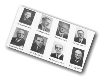 Past presidents of the Glasgow Odontological Society