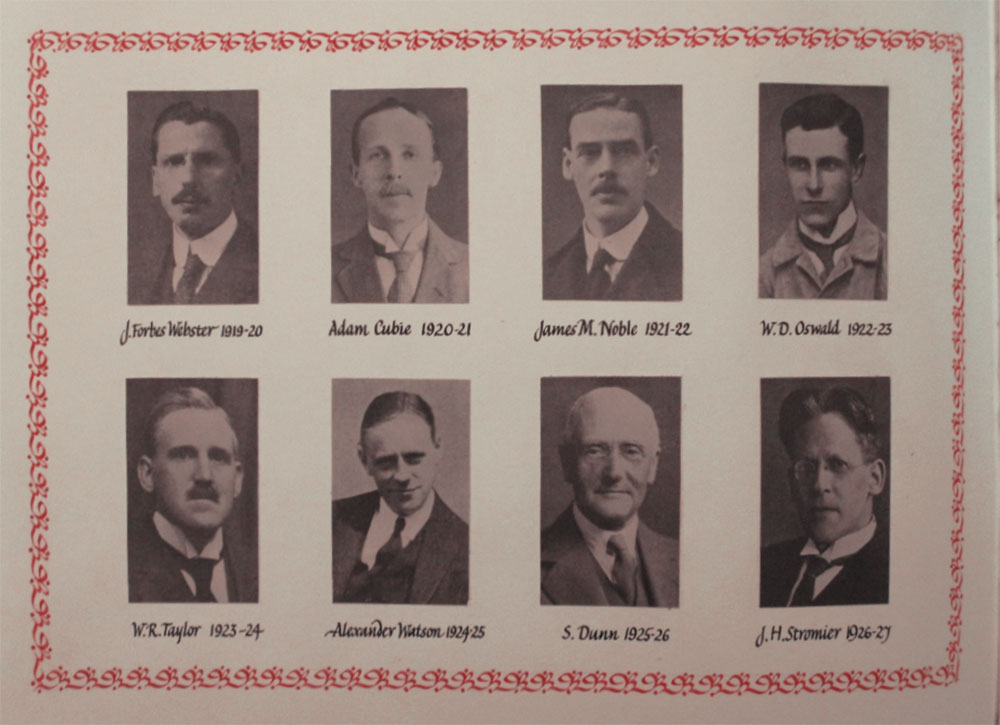 Presidents from Webster to Stromier